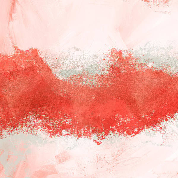 Mixed Media - Coral Splash- Abstract Art By Linda Woods by Linda Woods
