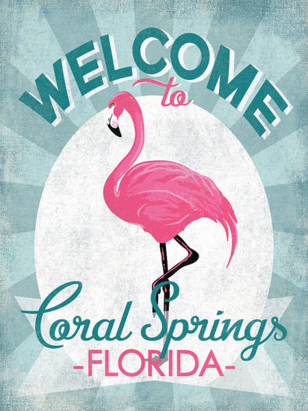 Wall Art - Digital Art - Coral Springs Florida Pink Flamingo by Flo Karp