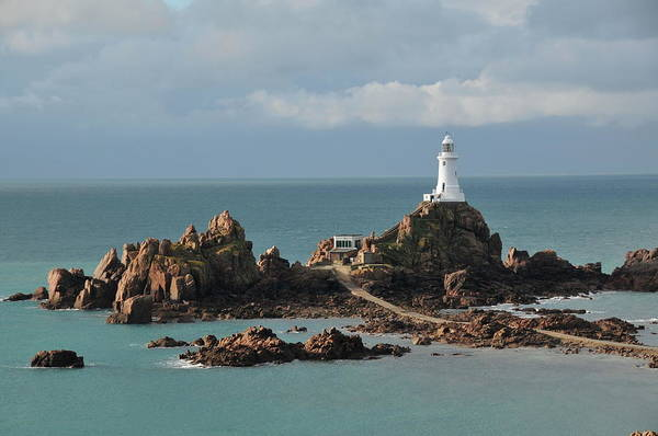 Nautical Photograph - Corbiere Lighthouse,jersey by Alan lagadu