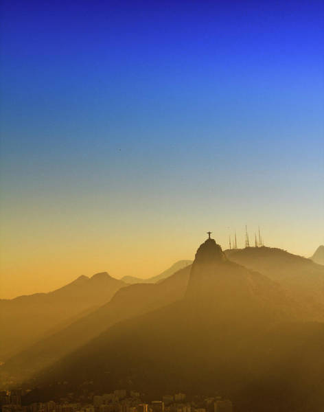 Corcovado Mountain And Christ Redeemer Art Print