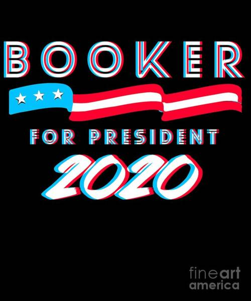 Digital Art - Corey Booker For President 2020 by Flippin Sweet Gear