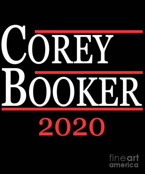 Digital Art - Corey Booker President 2020 by Flippin Sweet Gear