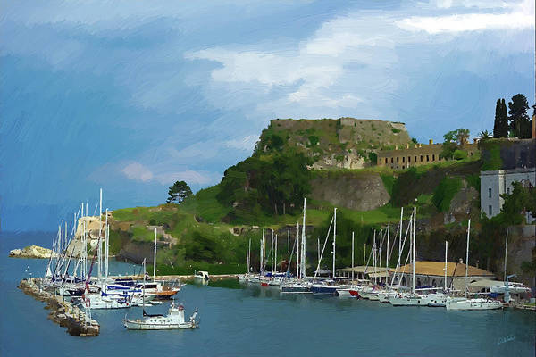 Painting - Corfu Harbor by Dean Wittle