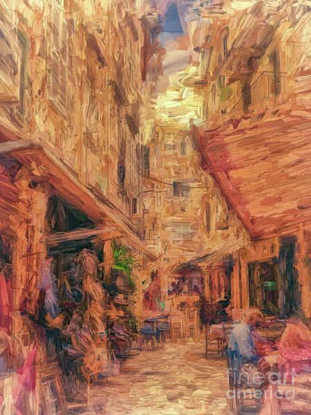 Wall Art - Photograph - Corfu Town Street Scene by Leigh Kemp