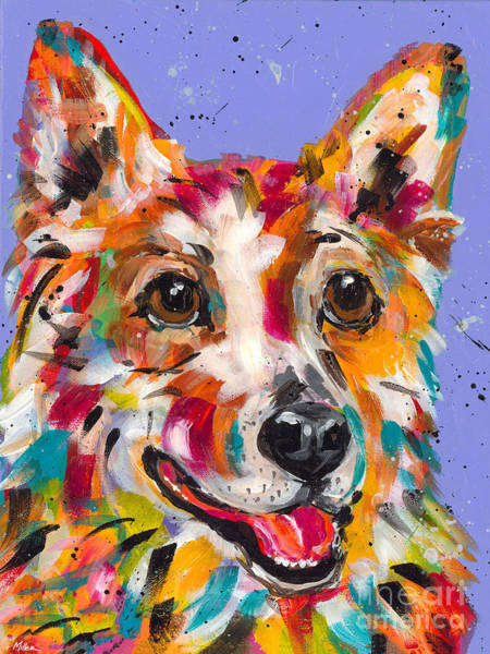 Wall Art - Painting - Corgie Smile by Tracy Miller