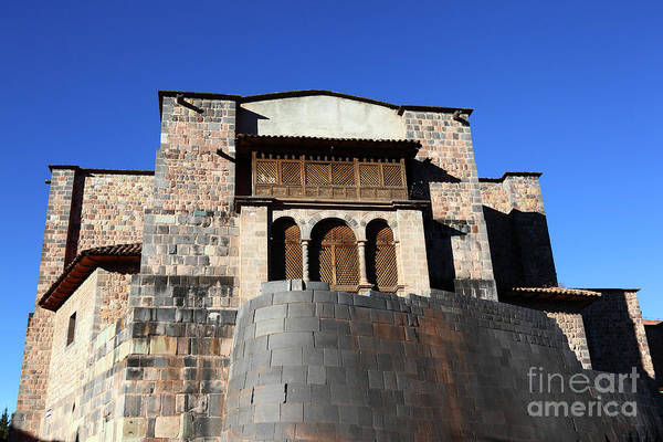 Photograph - Coricancha And Santo Domingo Church Cusco Peru by James Brunker