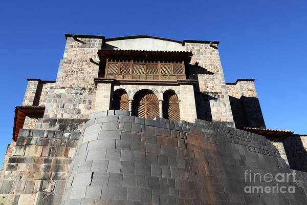 Photograph - Coricancha Sun Temple And Santo Domingo Church Cusco Peru by James Brunker