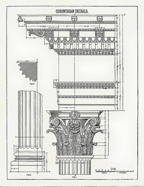 Drawing - Corinthian Architecture by James Fannin