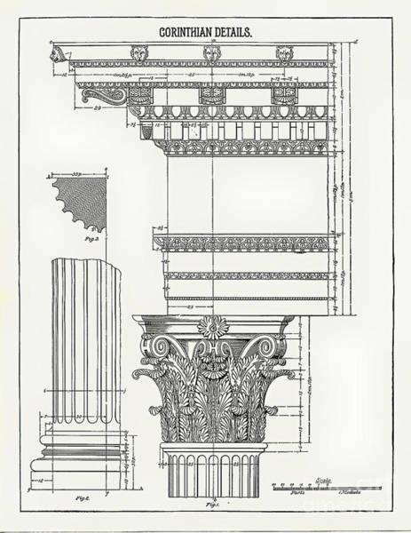 Drawing - Corinthian Architecture by James Fannin
