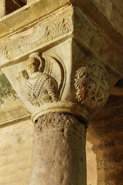 Photograph - Corinthian Capital Carving by Steve Estvanik