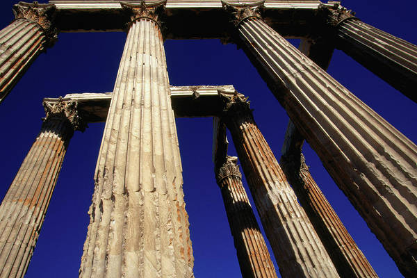 Ancient Greek Photograph - Corinthian Columns Of The Temple Of by Lonely Planet