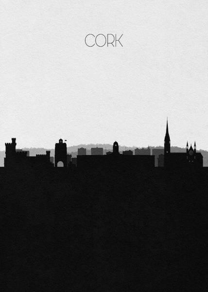 Digital Art - Cork Cityscape Art by Inspirowl Design