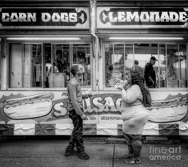 Service Dog Photograph - Corn Dogs And Lemonade by Kathleen K Parker