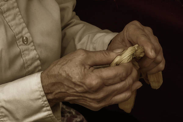 Photograph - Corn Husk Doll Maker by Guy Whiteley