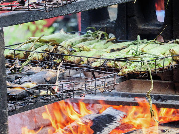 Photograph - Corn On The Cob Roasting On Fire by Kyle Lee