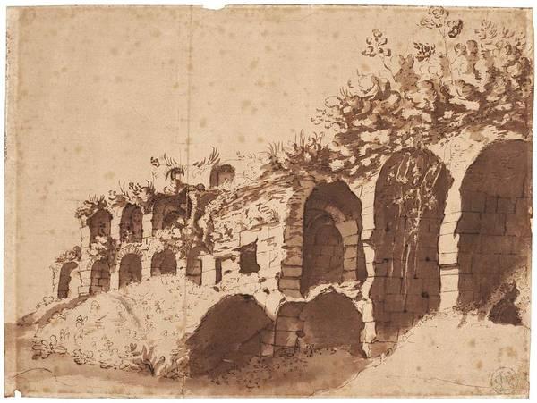 Wall Art - Painting - Cornelis Van Poelenburch Roman Ruins by Celestial Images
