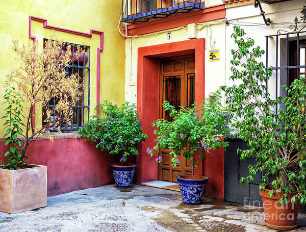Photograph - Corner House In Seville by John Rizzuto