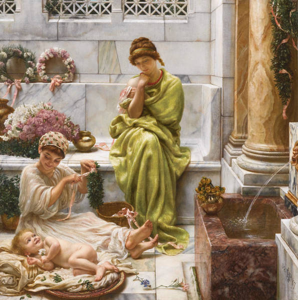 Wall Art - Painting - Corner Of The Marketplace by Edward Poynter