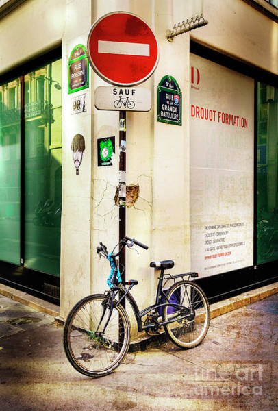 Photograph - Corner Sauf Bicycle by Craig J Satterlee
