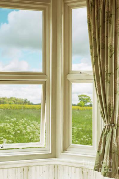 Wall Art - Photograph - Corner Window Overlooking Landscape by Amanda Elwell