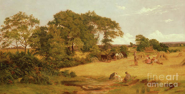 Wall Art - Painting - Cornfield In Essex, 1875  by Francis M Trappes