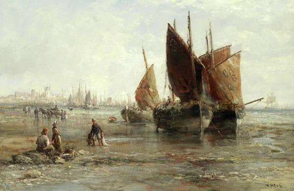 Wall Art - Painting - Cornish Fishing Boats by William Edward Webb