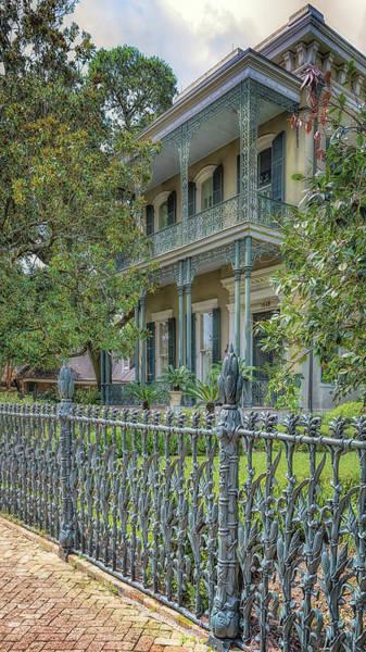 Photograph - Cornstalk Fence Mansion by Susan Rissi Tregoning