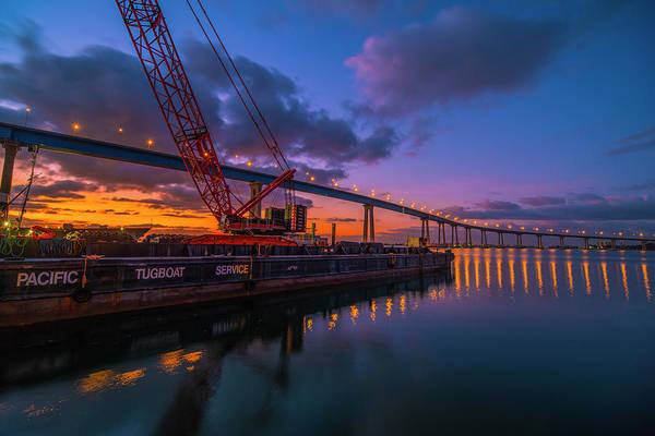 Photograph - Coronado Bridge At Sunrise by Jonathan Hansen