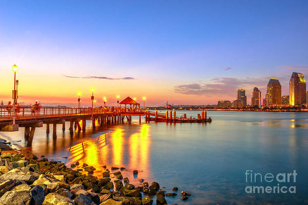 Photograph - Coronado Ferry Landing Twilight by Benny Marty