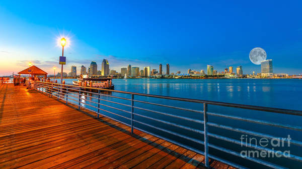 Photograph - Coronado Island And San Diego Skyline by Benny Marty