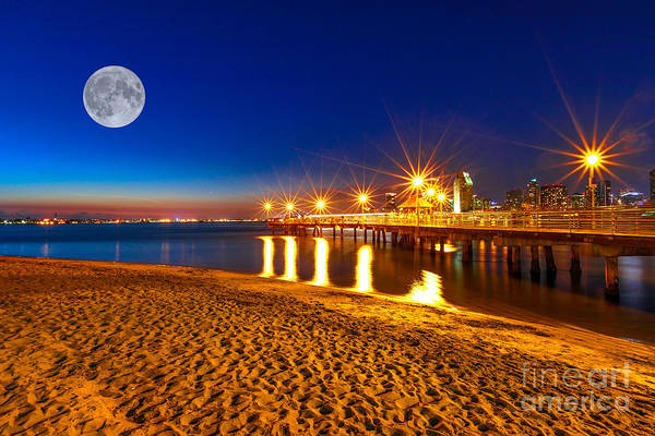 Photograph - Coronado Pier San Diego Night by Benny Marty