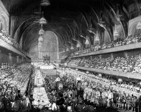 Wall Art - Painting - Coronation Banquet, 1821 by Granger