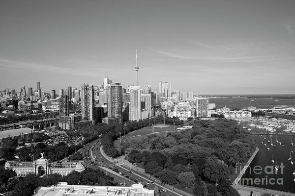 Wall Art - Photograph - Coronation Park In Toronto Black And White by Bill Cobb