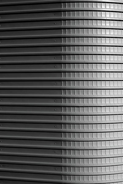 Wall Art - Photograph - Corrugated Wall Of Building by Alex Bamford
