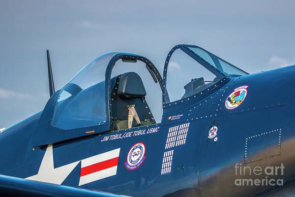 Photograph - Corsair Cockpit by Tom Claud