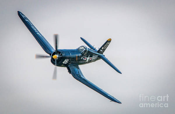 Photograph - Corsair Left Turn by Tom Claud