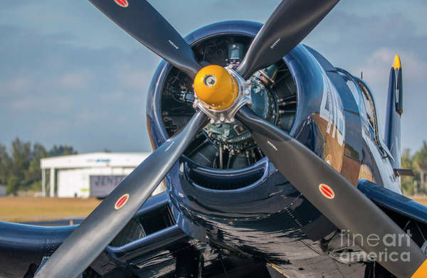 Photograph - Corsair Propeller by Tom Claud
