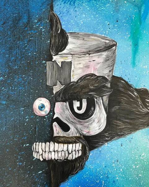 Videogame Painting - Cortex by Jay Clark