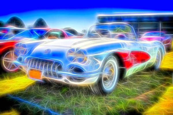 Photograph - Corvette Electrified by Floyd Snyder