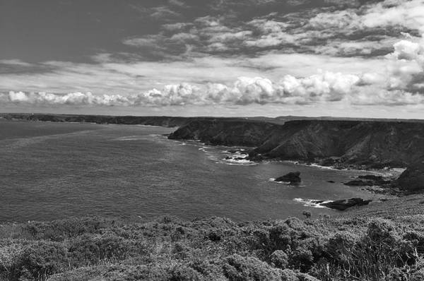 Photograph - Cornwall Shore In Bw by David Resnikoff
