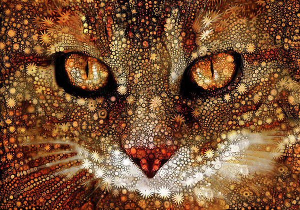 Digital Art - Cosmic Cat by Peggy Collins