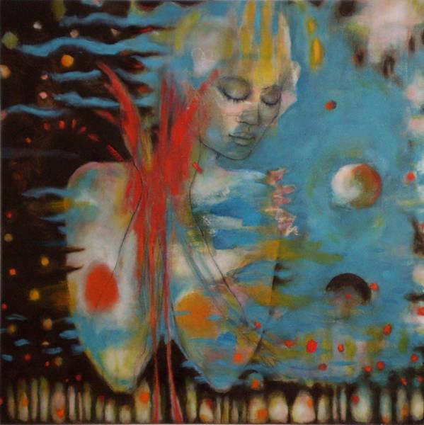 Wall Art - Painting - Cosmic Conversation by Jan Zoya