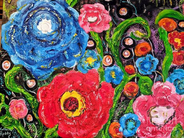 Wall Art - Painting - Cosmic Floral by Colleen Reddy