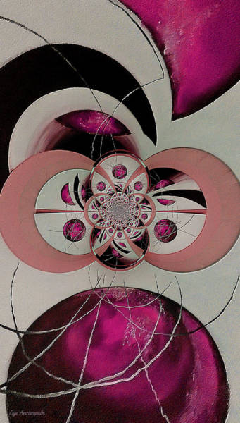Wall Art - Painting - Cosmic Kaleidoscope Fuchsia by Faye Anastasopoulou