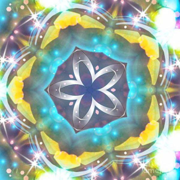 Digital Art - Cosmic Starfish Flower by Rachel Hannah