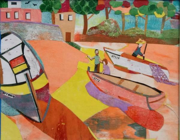 Wall Art - Mixed Media - Costa Brava by Ilona Halderman