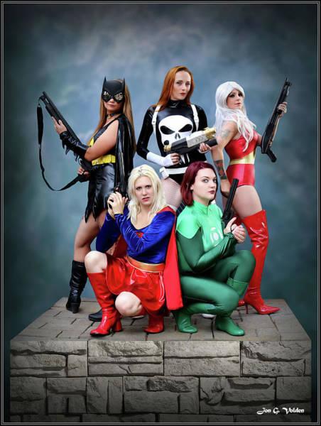 Photograph - Costumed Heroines by Jon Volden