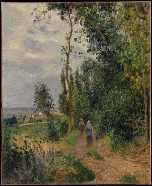 Wall Art - Painting - Cote Des Grouettes, Near Pontoise Prob 1878 by Camille Pissarro