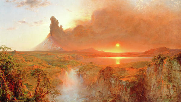 Metaphor Painting - Cotopaxi, 1862 by Frederic Edwin Church