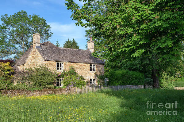 Wall Art - Photograph - Cotswold Stone Cottage In Wyck Rissington by Tim Gainey